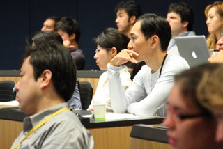 attending a lecture